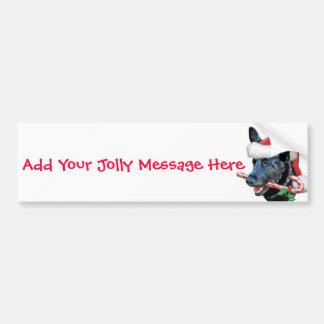 Black German Shepherd Christmas Bumper Sticker