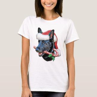 Black German Shepherd Christmas T-Shirt