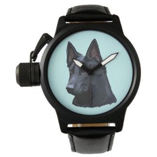 Black German Shepherd Dog Watch