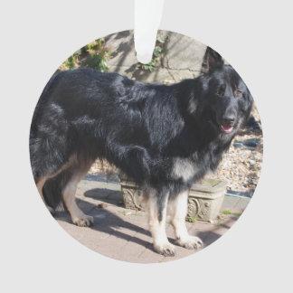 black german shepherd full.png ornament