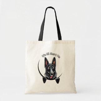 Black German Shepherd IAAM Budget Tote Bag
