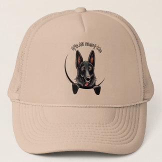 Black German Shepherd IAAM Trucker Hat