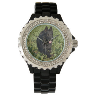 Black German Shepherd Wrist Watch