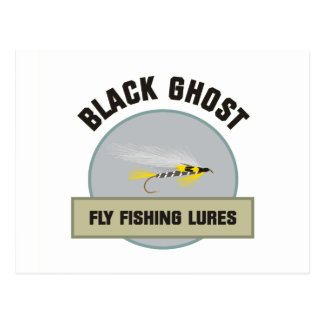 Black Ghost Fly FIshing Lure Postcard