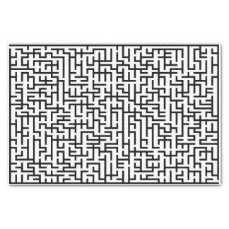 Black Giant Line Maze Tissue Paper