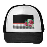 Black Gingham and flowers