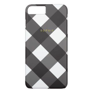 Black Gingham iPhone 7 Plus Case