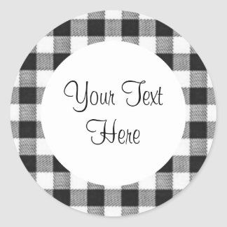 Black Gingham Sticker