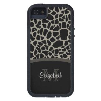 Black Giraffe Pattern iPhone 5 Cases
