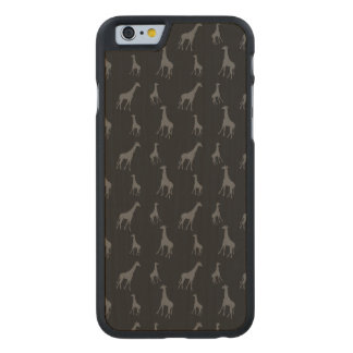 Black giraffes carved maple iPhone 6 case