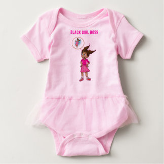 Black Girl Boss Baby Tutu BodySuit
