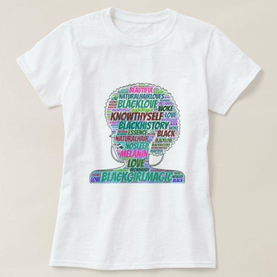 Black Girl Magic Word Cloud T-Shirt