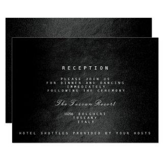 Black Glam Fall Autumn Vip Wedding Reception 9 Cm X 13 Cm Invitation Card