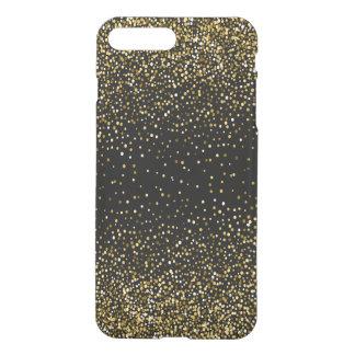 Black & Glam Gold Glitter Confetti iPhone 8 Plus/7 Plus Case