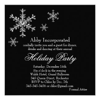 Black Glamorous Holiday Party Invitation (corp)