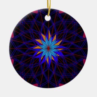Black glass web ornament