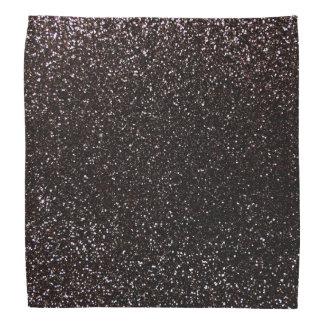 Black glitter bandana