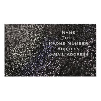 Black Glitter Business Cards