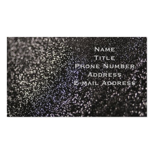 Black Glitter Business Cards