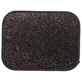 Black glitter car mat