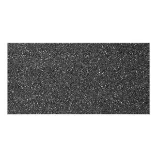 Black Glitter Custom Photo Card