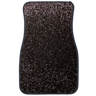 Black glitter floor mat