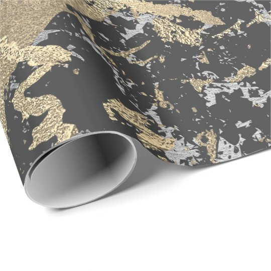 Black Glitter Gold Marble Silver Abstract Metallic Wrapping