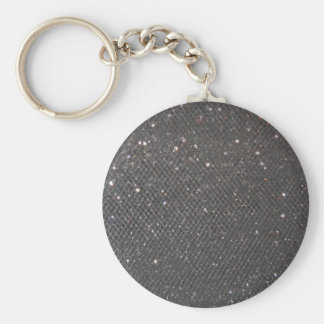 Black Glitter Key Ring