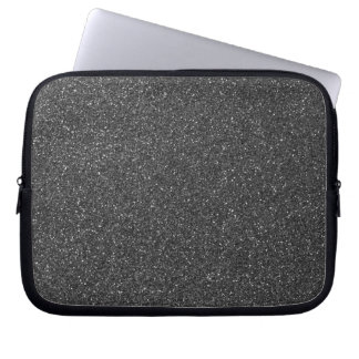 Black Glitter Laptop Sleeves