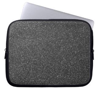 Black Glitter Laptop Sleeves