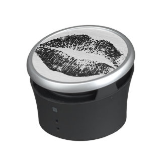 Black Glitter Lips Speaker