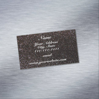 Black glitter magnetic business cards (Pack of 25)
