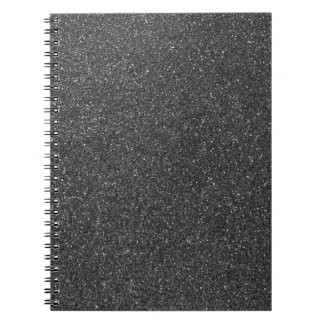 Black Glitter Notebooks