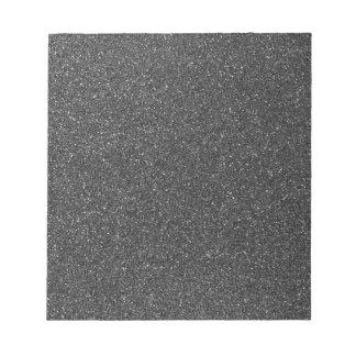 Black Glitter Notepad