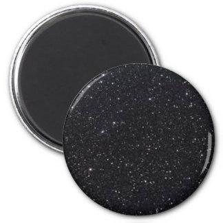 BLACK GLITTER PRINT MAGNET 2 INCH ROUND MAGNET