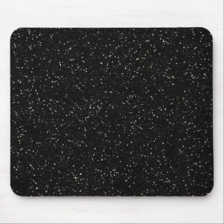 Black Glitter Sparkle Graphic Art Pattern Design Mouse Pad