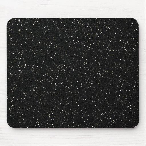 Black Glitter Sparkle Graphic Art Pattern Design Mousepad