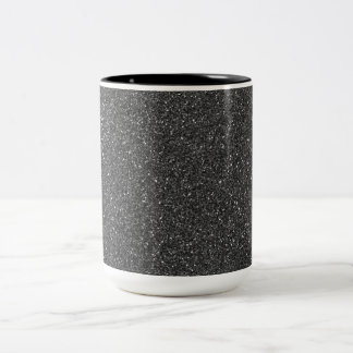 Black Glitter Two-Tone Coffee Mug