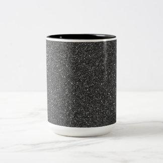 Black Glitter Two-Tone Coffee Mug