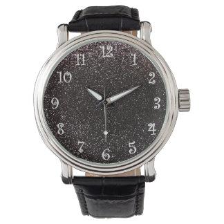 Black glitter watch