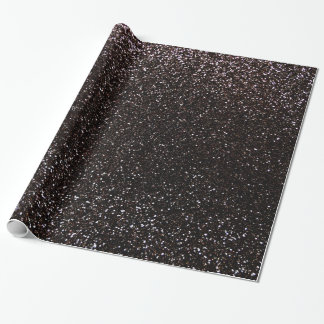 Black glitter wrapping paper