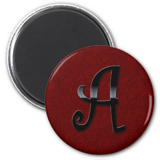 Black Gloss Monogram - A Refrigerator Magnet
