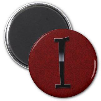 Black Gloss Monogram - I Refrigerator Magnet
