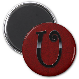 Black Gloss Monogram - U Magnets