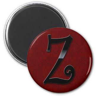 Black Gloss Monogram - Z Fridge Magnet