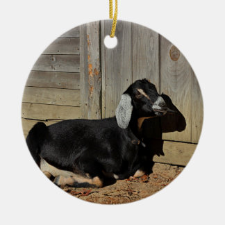 Black goat christmas ornament