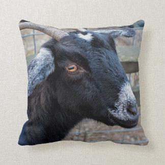 Black goat cushion