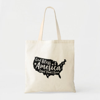Black God Bless America Travel Tote
