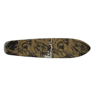 Black Gold Abstract Design Custom Skate Board