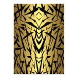 "Black & Gold Abstract Invite Birthday Party 5"" X 7"" Invitation Card"